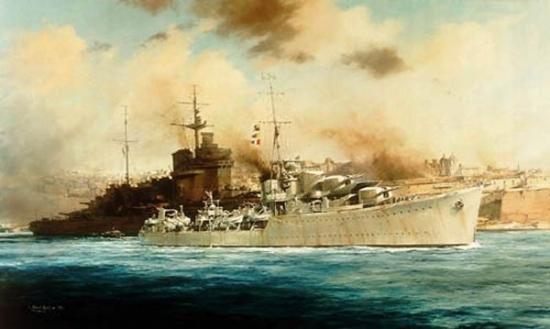 HMS Kelly at Grand Harbour, Malta