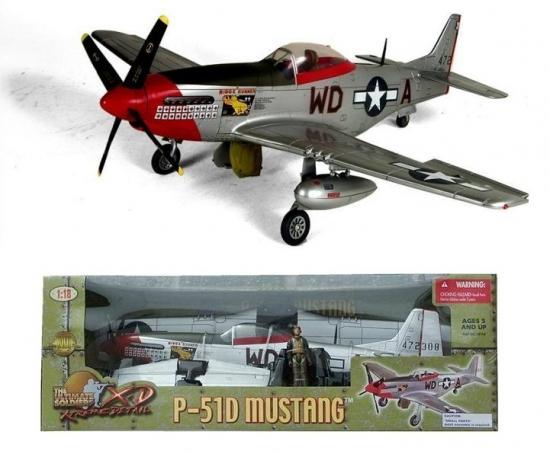 "P-51D Mustang ""Ridge Runner"" 1:18 Scale"