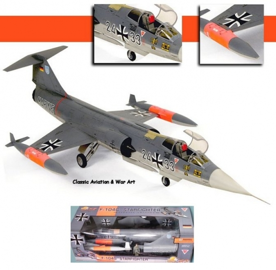 F-104G STARFIGHTER Shooting Star German 1:18 Scale